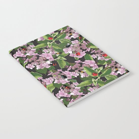 Floral insects pattern Notebook