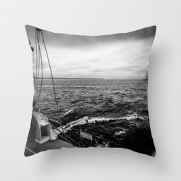 Stormy Sailing on Chappy Throw Pillow