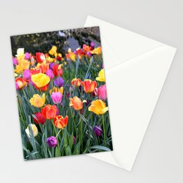 VIBRANT BOUQUET OF TULIPS - SPRINGTIME FLOWERS Stationery Cards