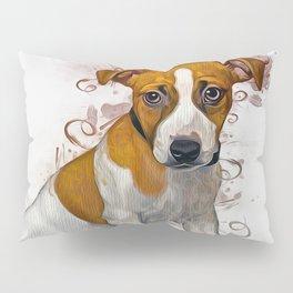 Jack Russell Art Pillow Sham