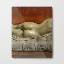 Woman on Bed Sensual Scene Metal Print