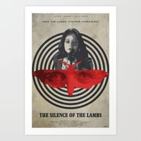 silence of the lambs Art Prints featuring Fava Beans - The Silence of the Lambs by Edward J. Moran II