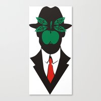 magritte Canvas Prints featuring René Magritte by Fen_A