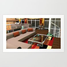 Loft Apartment Theatre Room  Art Print
