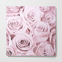Pink Roses Flowers - Rose and flower pattern Metal Print