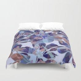 Blue Batik Floral Duvet Cover