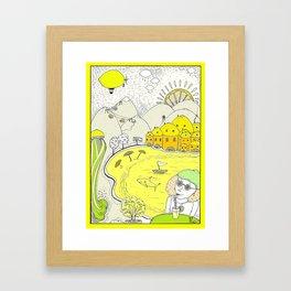 Lemon paradise Framed Art Print