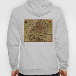 Vintage Map of Antwerp Belgium (1572) Hoody