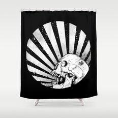 Kamikaze Skull Shower Curtain