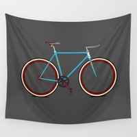 bike Wall Tapestries featuring Bike by Wyatt Design