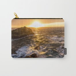 In Waves - Waves Crashing Into Rocks at Sunset In Big Sur Carry-All Pouch