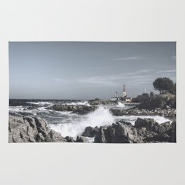 The wild sea- Wild waves o stormy day Rug