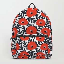 Summer Poppy Floral Print Backpack