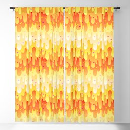 Candy Corn Slime Blackout Curtain