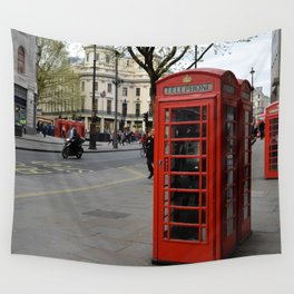London Phone Booth Wall Tapestry