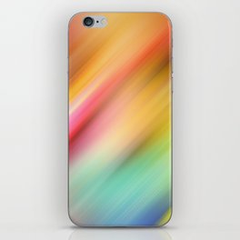 Abstract of multiple colors blending into each other iPhone Skin