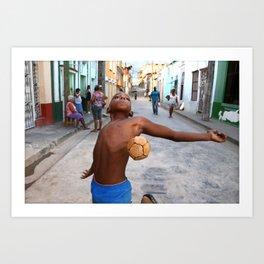 Jump ! in the streets of Santiago de Cuba Art Print