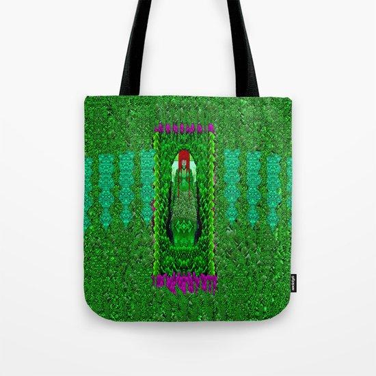 Peace Mermaid Cat Tote Bag