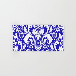 Paisley Damask Blue and White Hand & Bath Towel