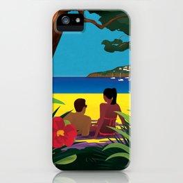 A Shaded Beach iPhone Case