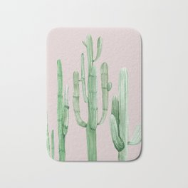 Three Amigos Green + Pink Bath Mat