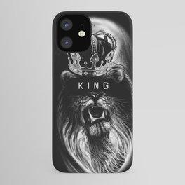 Lion, Lionart, King, Animal, Black, Minimal, Interior, Black White,Wall art, Art Print,Trendy decor iPhone Case