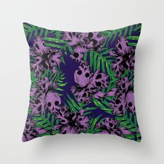 Orchid Skulls Throw Pillow
