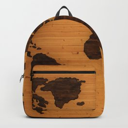 The Wooden World Map (Color) Backpack