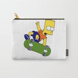 bart simpson skateboard Carry-All Pouch