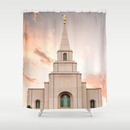 Kansas City LDS Temple 1 Shower Curtain