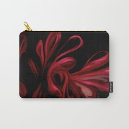Red Velvet Ribbons Carry-All Pouch