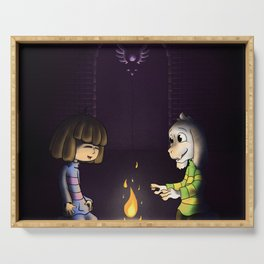 Frisk and Asriel Serving Tray