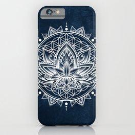 Lotus Mandala (white) iPhone Case