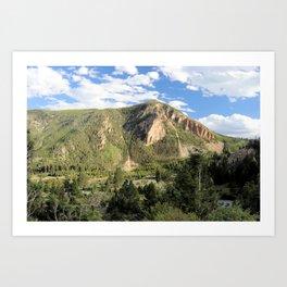 Bunsen Peak, Mammoth Springs, Yellowstone National Park, Wyoming Art Print