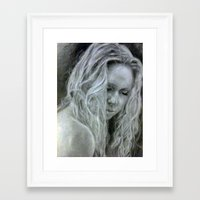 beth hoeckel Framed Art Prints featuring Beth by EleanorOrchard