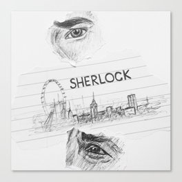 Sherlock: 'you look sad when you think he can't see you' Canvas Print