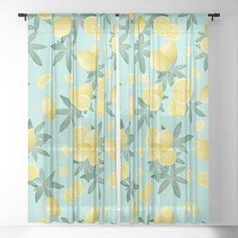 Lemon Twist Vibes #4 #tropical #fruit #decor #art #society6 Sheer Curtain