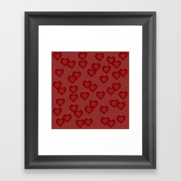 Red Hearts Framed Art Print