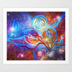 Cosmic Hummingnectar Art Print