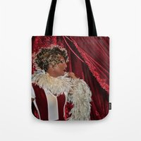 chad wys Tote Bags featuring Chad Michaels as Elsa Mars Fx  by OvahFx Art without a brush