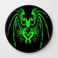 demon Wall Clocks featuring demon by Littlefox