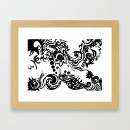 this is how you remind me Framed Art Print