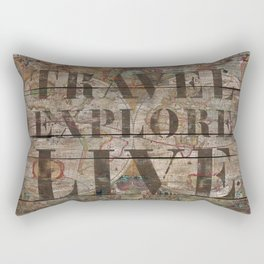 Travel Explore Live (Old Map) Rectangular Pillow