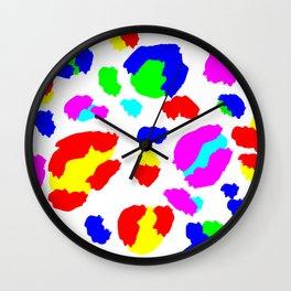 Leopard colorful pride Wall Clock
