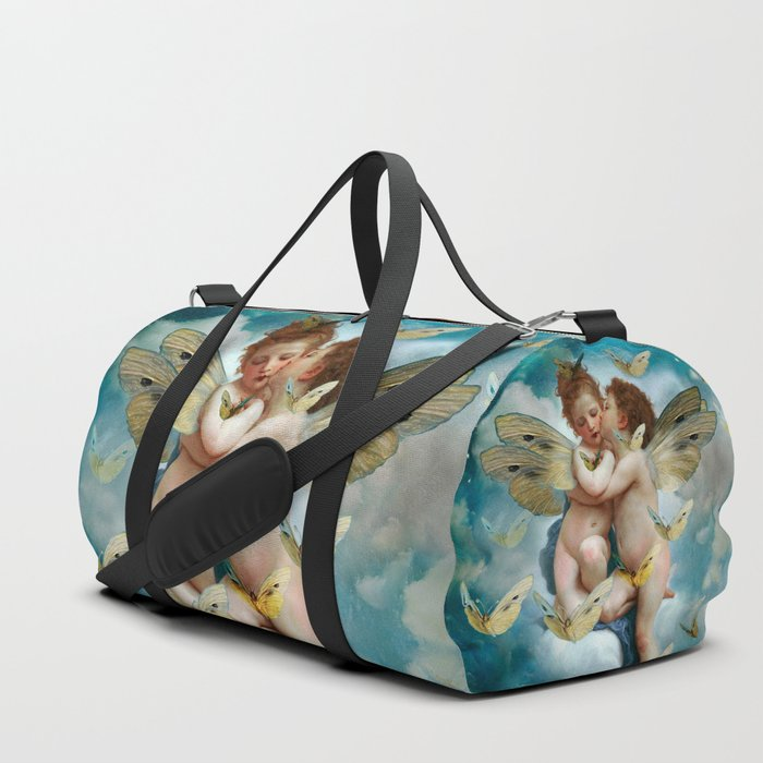 """Angels in love in heaven with butterflies"" Duffle Bag"