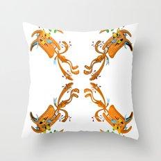 Rabbit Rabbit Throw Pillow
