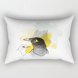 Myna, Birds of Thailand Rectangular Pillow