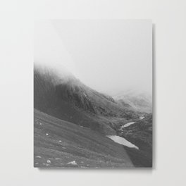 THE MOUNTAINS II / Snowdon, Wales Metal Print