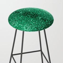 Beautiful Emerald Green glitter sparkles Bar Stool