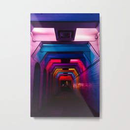 Rainbow Light Tunnel Metal Print